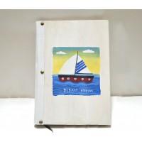 Εικόνα προϊόντος βιβλίου ευχών βάπτισης με καραβάκι