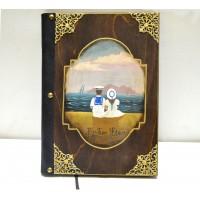 Εικόνα προϊόντος βιβλίου ευχών βάπτισης με ναυτάκια