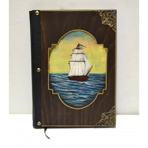 Εικόνα προϊόντος βιβλίου ευχών με καράβι
