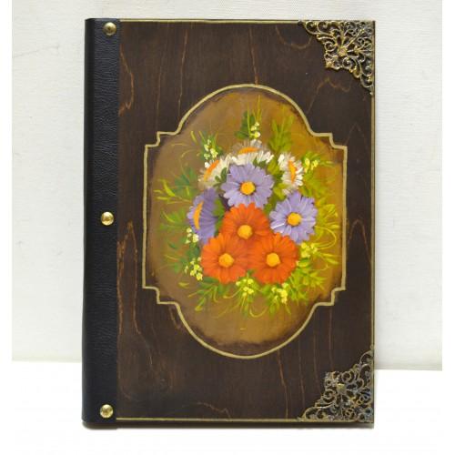 Εικόνα προϊόντος βιβλίου ευχών με λουλούδια