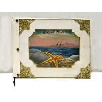 Βιβλίο ευχών - εικόνα βιβλίου με θαλασσινό τοπίο