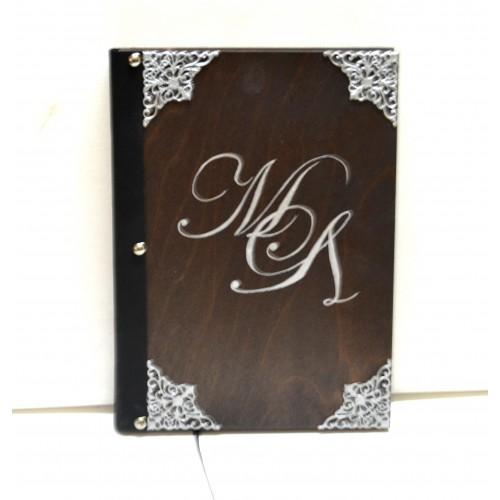 Εικόνα προϊόντος βιβλίου ευχών γάμου με μονογράμματα