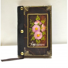 Εικόνα προϊόντος σημειωματαρίου βιβλίου με λουλούδια σε ροζ απόχρωση