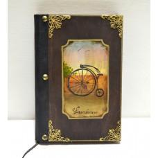 Σημειωματάριο με παλιό ποδήλατο εικόνα προϊόντος